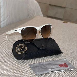 White RayBans Sunglasses